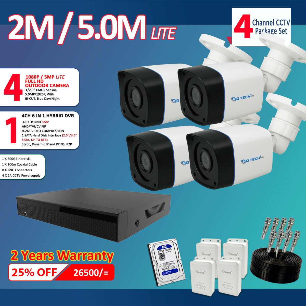 2 M CAMERA PACKAGES